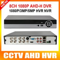 Wholesale Dvr Hdd Hdmi - H.264 Full HD 1080p 8CH AHD DVR Video Recorder With HDMI Output Support 1*4TB HDD Hybrid dvr NVR 1080p 960h palyback 8ch cms p2p mobile view