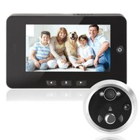 """Wholesale Doors Viewers - 4.3"""" Digital TFT Screen Motion Detection Door Bell Night Vision Peephole Viewer Support Auto-Photo Snapping & Video Recording"""