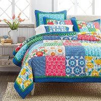 Wholesale Spring Patchwork Bedding - Hot! 2016 Latest Handmade 3pcs Pure Cotton Patchwork Quilt Bed Cover Bedspread Bed Comforter Exquisite Workmanship King California King Size