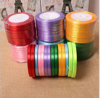 Wholesale Wedding Cake Boxes Red - 22 Meters A Roll Colored Ribbons With Width 0.6mm Wedding Accessories Cake Gift Box Packaging Ribbons Fashion Wedding Decorations Ribbons