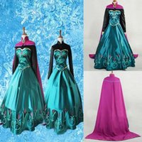 Wholesale Prom Dress Games - Wholesale-NEW Princess Prom Cosplay Party Fancy Dress Outfit Costume Adult Girl Gown Costume Kits