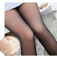 schwarze dicke beine wärmer großhandel-Leggins Winter Samt Leggings Dick durch Haut Legging Schwarz Hose Warm Lässige Strick Cashmere Pants Neu