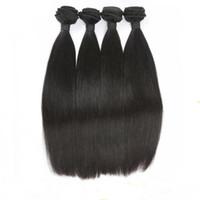 Wholesale Cheaper Weave Hair - Cheaper 8A 8-30 inch Hair Extensions Straight Hair Weaves Brazilian Malaysian Peruvian Indian 100 Human Hair Bundles Can Be Dye Ombre