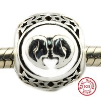 Wholesale diy jewelry sterling star resale online - 2016 Gemini Star Sign Charm Sterling Silver Beads Fit Pandora Charms Bracelet Authentic DIY Fashion Jewelry