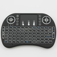 teclados google venda por atacado-I8 + plus portátil fly air mouse com backlit mini teclado touchpad remoto sem fio portátil para pc pad caixa de tv google andriod xbox360 10 pcs