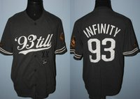 Wholesale Infinity Shorts - Marc Ecko Unlimited 1993 Infinity Unlimited Sewn Patch Baseball Jersey s-4xl