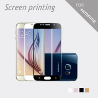 Wholesale Color Sticker Note - NEW! Silk screen printing HD color phone Tempered glass film for samsung NOTE 2 3 4 J7 G5308 7106 9082 Call phone sticker