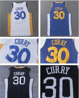 # 30 Stephen Curry Warrior Golden State 2017-18 Nuovo stile AU 100% maglie pallacanestro cucita Embroideried Sports Wears