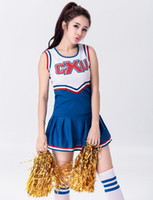 школьная одежда MOONIGHT Sexy High School Cheerleader Costume Cheer Girls Uniform Party Outfit Tops с юбкой