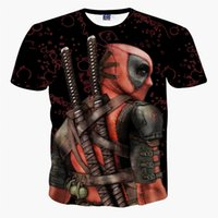 camiseta deadpool de marvel al por mayor-El más nuevo superhéroe Deadpool camiseta American Marvel Personajes de cómic 3D Deadpool camiseta Funny Casual Tee Shirts Tops