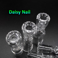 Wholesale Nails Dropshipping - 2016 Daisy Domeless Quartz Nails With Female Male 10mm 14mm 18mm Quartz Banger Nail for glass bongs oil rigs dropshipping OEM ODM Accepted