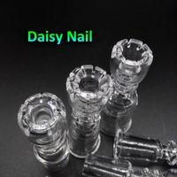 nagelkunst dropshipping großhandel-2016 Daisy Domeless Quarz-Nägel mit weiblichem männlichem 10mm 14mm 18mm Quarz-Banger-Nagel für die Glasbongs Ölplattformen Dropshipping Soem ODM nahm an