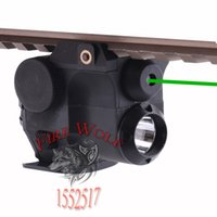 Wholesale Green Rail Laser - 532nm Wavelength Tactical Hunting Green Dot Laser Sight Scope w  LED Flashlight Combo Fit for 21mm Weaver Picatinny Rail