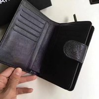 Wholesale Top Cowhide Leather Wallet - Wholesale Luxury Original Genuine Caviar Cow Leather Wallets Top Quality Original Box Coin Purses Fashion Classic Pockets Card Holder
