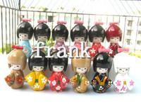 Wholesale Wholesale Japanese Kokeshi Wooden Dolls - Wholesale 120pcs Oriental Japanese Kokeshi dolls wooden Kid's Xmas Gift