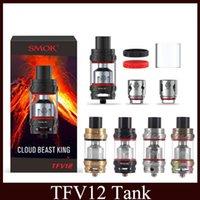 Wholesale Baby King - TFV12 Tank Beast King 6.0ml Top Refilling Sub Ohm Vape Atomizer 27mm Diameter E Cig For Box Mod vs SMOK tfv8 baby
