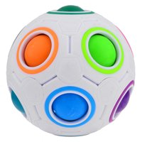 Wholesale Metal Yj - New Arrival YJ Yongjun Rainbow Ball Football Magic Cube Speed Puzzle Cubes Educational Toys Special Toys Birthday Gift