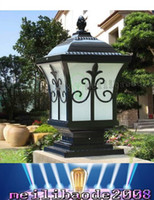 Wholesale European Led Outdoor Wall Lamp - 2016 new listing wall lamp headlamp outdoor garden villa door wall lamp post European aluminum antirust column LLFA