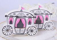 Wholesale Enchanted Favor Boxes - Cinderella Enchanted Carriage Marriage Box Wedding Favor Gift boxes Candy box