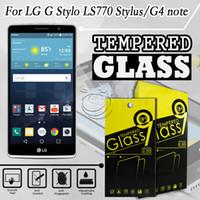 g cep telefonları toptan satış-LG LS770 F70 G4stylus G Için temperli Cam Ekran Koruyucu G stylo Cep Telefonu Aksesuarları ile 10 in 1 ambalaj
