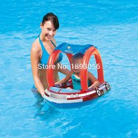 All'ingrosso-Camion Fuoco Piscina Bambino Floating Seat Ring Swim Seat Float con tendalino PVC Nuoto gonfiabile Bambino Float Boat
