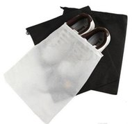 black bag clothing - Promotion Non woven Shoe Drawstring Travel Storage Shoe Dust proof Tote Dust Bag Case Black White Pouch Tote Bag Dust proof Shoe free fedex
