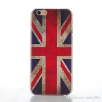 Wholesale Iphone Flag Back Covers - UK US Flag Anchor flower effiel tower tearful eye Hard Case Back Cover For iPhone 5 6 6 Plus Phone Cases