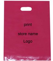 Wholesale Customized Label Printing - Customize Logo Plastic Bags Print Brand Mark Label Black Fashion Jewelry Makeup Shoe Underwear Hat Clothes packaging Gift Pouches
