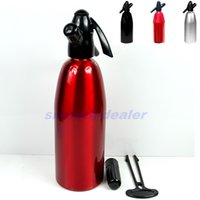 Wholesale wine brew - New Aluminum Soda 1000ml Syphon Siphon Maker Bar Home Brew Seltzer Make Tool