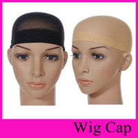 Wholesale Twins Hat Wholesale - Unisex Sock type net cap Wig NET hat Stocking Wig Liner Cap Snood Nylon Stretch Hairnets Mesh Wig accessories Tool