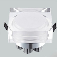 Wholesale recessed lights for home resale online - Crystal downlight round square W W W W LED Ceiling spot light V V recessed lamp down for home decoration kitchen