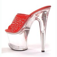 Sexy 17CM Super High Heel Platforms Pole Dance / Performance / Star / Model Shoes, тапочки, вечеринки / свадебные туфли