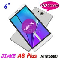 Wholesale Jiake Smartphone - 3G Unlocked JIAKE A8 Plus Android 5.1 MTK6580 Quad Core 6 Inch Smartphone Dual SIM 1GB 8GB 1280*720 Gesture Cell phone Case