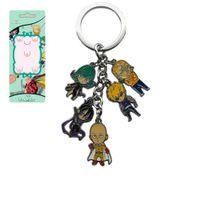 Wholesale Doll Key Chain Charm - Anime Cartoon One Punch Man Keychains Metal Figures Pendants Charms Key Chain Saitama character doll pendant with Key Ring