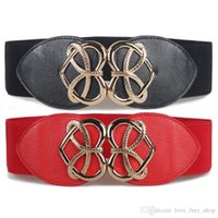 Wholesale Wide Red Elastic Belt - Fashion Restore Ancient Ways Decoration Waist Seal European Joker Crony Woman Fund Elastic Force Degree Of Tightness Width Belt Go