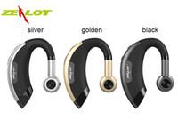 Wholesale Iphone Handsfree Original - New Original Zealot E1 Wireless Bluetooth Headphone Stereo Earhook Earphone In Ear Headset with Microphone Call Handsfree Retail Packing DHL