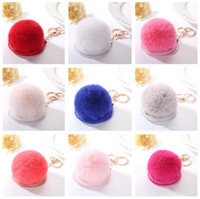 Wholesale Mix Resin Hair - High quality Small gift make - up mirror new hair ball mirror key ring car bag ornaments pendant KR364 Keychains mix order 20 pieces a lot