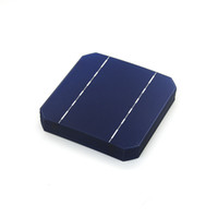Wholesale Pv Solar Cells - 10 Pcs 17.6% 125 x 125MM Mono Solar Cells 5x5 Grade A monocrystalline Silicon PV Wafer For DIY Home Photovoltaic Solar Panels