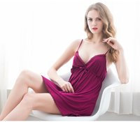 Wholesale Sexy Bodydoll - Wholesale-Sexy Bodydoll Women Sexy Costume lingerie Ladies Modal Sexy Nightdress Delicate Touch Adult Games Sling Sleepwear