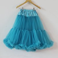 Wholesale Satin Gowns Skirts Petticoats - Large Size Double Tutu Fluffy Teenage Girl Adult Pettiskirt Long Tulle Tutu Skirts Women Party Dance Maxi Skirt Rockabilly Petticoat