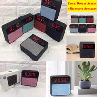 Wholesale Screen Fabric Portable - New speaker T1 fabric speaker mini alarm clock Bluetooth speaker phone audio wireless subwoofer clock display screen sound