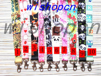 Wholesale Panda Keychains - Wholesale Popular Cartoon Animal Panda Dog Rabbit Lanyards Keychain ID Badge Holder