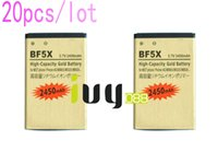 Wholesale Defy Battery Bf5x - 20pcs lot 2450mAh BF5X Gold Replacement Battery For Motorola Photon 4G MB855 ME525 MB525 Bravo MB520 ME863 XT531 xt883 Defy mini Batteries