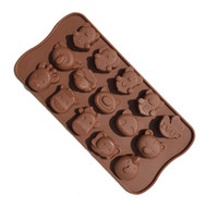 Wholesale Silicone Rose Mold 15 - 15 Even Zebra Giraffe Bear Rose Shape Muffin Case Candy Jelly Ice Cake Silicone Mould Mold Baking Pan Tray