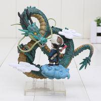 Wholesale Dragon Ball Z Shenron - 10cm Dragon Ball Z Museum Collection Son Gokou with Shenron Boxed PVC Action Figure Collectible Model Toy
