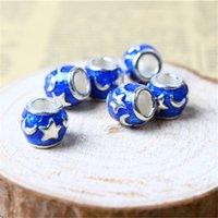 Wholesale Blue Star Foods - Blue Star Charm Bead 925 Silver Fashion Women Jewelry Stunning Design European Style For Pandora Bracelet PAD-18