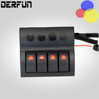 Automobile rv barca Rimontare Accessori 4 Gruppo LED Interruttore Marine Rocker Switch Panel Interruttori impermeabile interruttore Yacht pozzetto di controllo
