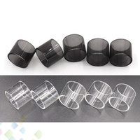 Wholesale clear baby for sale - Clear Black TFV8 X Baby Replacement Pyrex Glass Tube ml for TFV8 X BABY Atomizer Glass Tube Replacement Sleeve Tube DHL Free