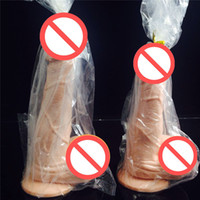 Wholesale Woman Suction Dildo - Realistic Big Dildo Waterproof Realistic Penis with Textured Shaft and Suction Cup Sex Product for Women Sexy Toys Valentines Gift