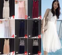 Wholesale Dresses Suite - 50X korea style lori Vest women skirt dress skirt mesh & Lace dress summer dinner suite 9 colors ESD011